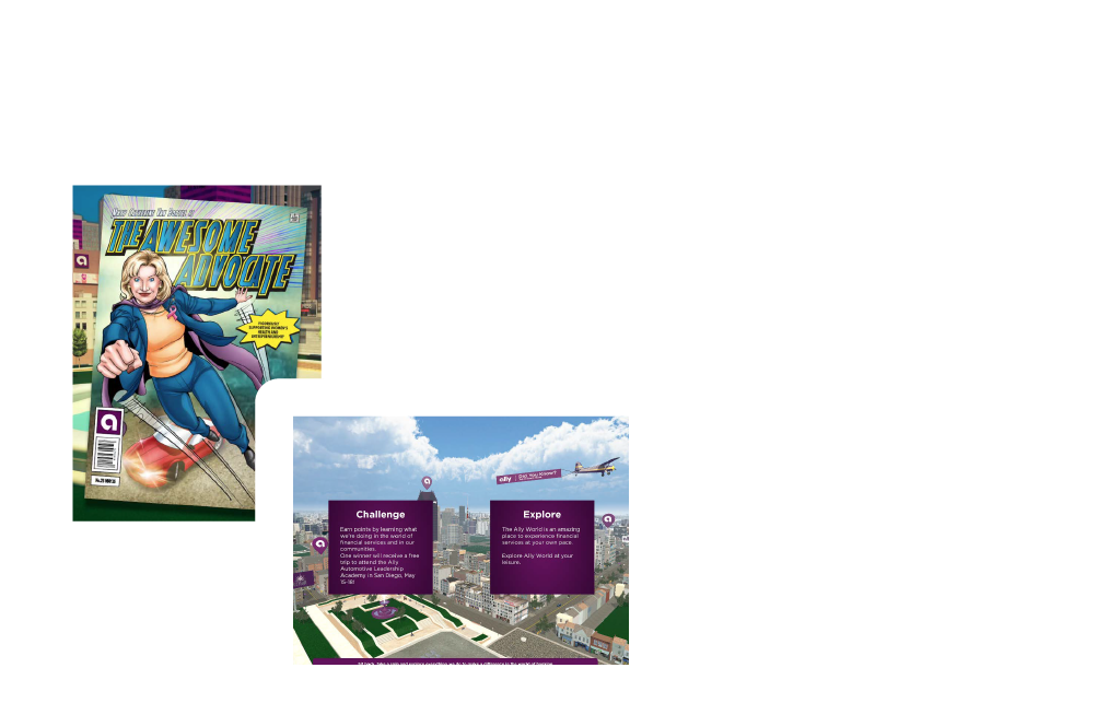 Ally Bank 3d interactive world iPad game